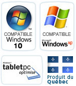 Compatible Windows Vista et Windows XP. Produit du Québec